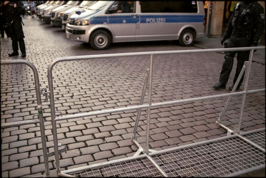 Das Polizeiaufgebot war massiv