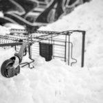 Im Schneehaufen