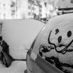 Gruß im Schnee